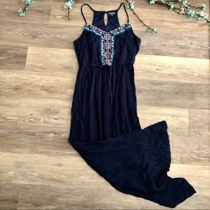 4/$25 Lily Rose Embroidered Halter Maxi Dress